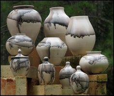 Horse hair pots by Micheal Mahar (SC)