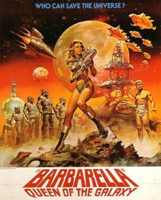 vintagegal: Barbarella by Boris Vallejo Sci Fi Films, Cult Movies, Boris Vallejo, Film Movie, Film Science Fiction, Pulp Fiction, Pochette Album, Movie Poster Art, To Infinity And Beyond