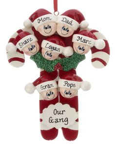 walk down memory lane with personalized holiday ornaments Personalized Christmas Ornaments, Christmas Tree Ornaments, Christmas Decorations, Dough Ornaments, Family Ornament, Ornament Crafts, Clay Projects, Clay Crafts, Biscuit