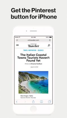 Get the Pinterest button for iPhone