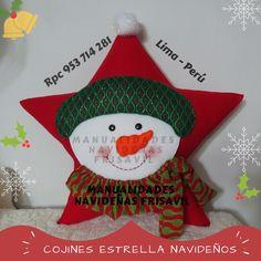 Cojín Estrella Nieve Christmas Stockings, Christmas Ornaments, Xmas Crafts, Facebook Sign Up, Plush, Pillows, Holiday Decor, Amanda, Patterns