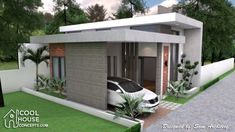 Sketchup House Modeling Idea From Photo - SamPhoas Plan Simple House Design, House Front Design, Minimalist House Design, Minimalist Home, Modern House Design, Narrow Lot House Plans, House Floor Plans, House Construction Plan, Modern Bungalow House