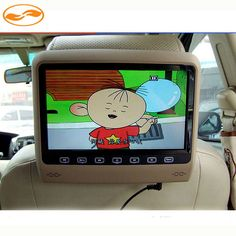 """Functional Car Monitor 9"""" LCD Digital Screen Headrest Monitor Black Beige Gray 3 Colors Support DVD USB SD Game Movie"""