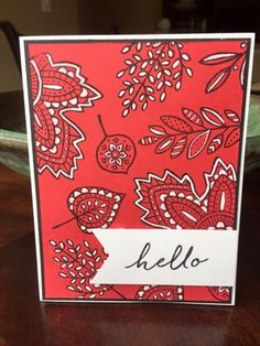 Use the SU CHALK MARKER, the Signo Gel Pen, or other white markers. . . . ruth petsel lighthearted leaves stampinup