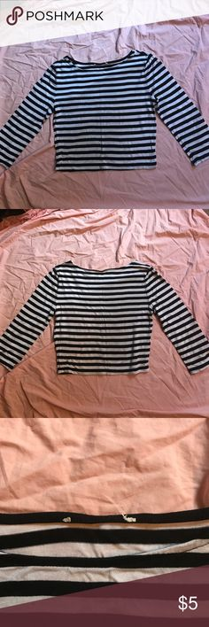Black and white striped crop top Barely worn crop top; good condition; tag is missing Tops Crop Tops