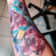 Roses and film done by Russell Van Schaick @ Hart and Huntington Orlando.