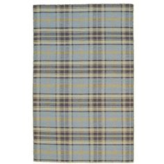 Rosalind Wheeler Gianna Plaid Handmade Flatweave Wool Blue Area Rug Rug Size: Rectangle x Chenille Fabric, Plaid Fabric, Painted Chairs, Indoor Outdoor Rugs, Grey Rugs, Online Home Decor Stores, Blue Area Rugs, Colorful Rugs, Rug Size