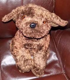 "15"" VERY SOFT Dark Chocolate Brown SOFT PLUSH Puppy Dog NO Tush Tag  #Unbranded"
