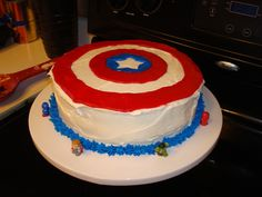 Cake at a Superhero Party #superhero #party