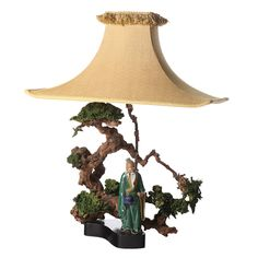 Bonsai Asian Figural Lamp after Billy Haines