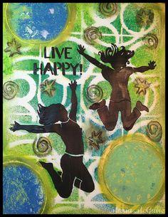 Believe Dream Create with Maria: StencilGirl Test Drive...Jump for Joy!