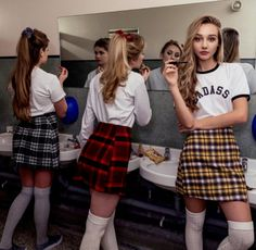 Promo photos from clothes brand Olive and Frank's Heathers-inspired line
