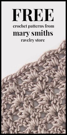 #Free Crochet #Patterns From Mary Smith's Ravelry Store