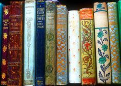 pretty old books - I like the  miss match of colors & textures. Fab! :)