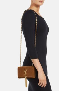 Saint Laurent 'Cassandre' Suede Crossbody Bag | Nordstrom