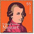 German Deutsche Post Mozart stamp