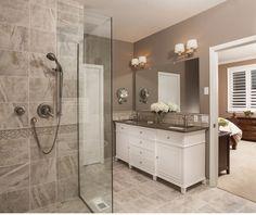 Master Bathroom walk-in shower, custom tile, designed by Corinne Gail Interior Design