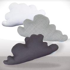 Cloud pillows - Set of three - White, lightgray and dark gray - Free shipping - Ready to ship. $140.00, via Etsy.