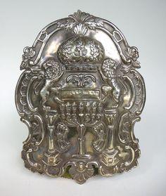 Judaica Silber Platte 1884