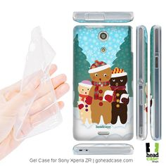 Head Case Carolers Gingerbread Gel Case for Sony Xperia ZR Sony Xperia, Gingerbread, Create Your Own, Smartphone, Phone Cases, Cover, Design, Ginger Beard