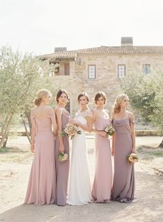 I like the bouquets and also curve ball I like the blush & mauve. Not too nude (also not navy or grey but for the sake of exploration)