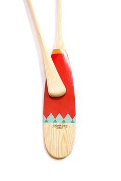 Tettegouche Canoe Paddle - Sanborn Canoe Company handcrafted & hand-painted wooden canoe paddle. { heritage, canoeing, art, artisan, paint, made in usa, Minnesota, design }
