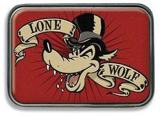 Lone Wolf Retro Rockabilly Belt Buckle http://www.inkedboutique.com