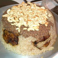 """Maklouba is often prepared with lamb meat, but today I am making it using chicken. It is a Palestinian dish, also famous in Syria and Lebanon. The translation of its name is """"upside down"""" because it looks like an upside down cake upon serving."""