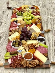 Trader Joe's Charcuterie and Cheese Board by The BakerMama Charcuterie Recipes, Charcuterie And Cheese Board, Cheese Boards, Chocolate Chip Ice Cream, Chocolate Chip Banana Bread, Chocolate Chips, Trader Joe's Cheese, Baked Apple Fritters, Cranberry Cheese