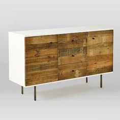 Reclaimed Wood + Lacquer Buffet, Amber Wash - west elm - $959 - domino.com