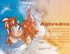 Chibi Aphrodite, Goddess Of Love, Greek Gods by KeetaBeeta