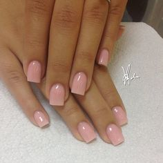 Love the natural look of these nails Gorgeous Nails, Love Nails, How To Do Nails, Pretty Nails, My Nails, Soft Pink Nails, Square Acrylic Nails, Square Nails, Colorful Nail Designs