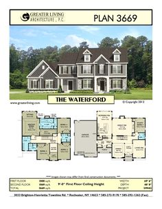 Greater Living Architecture in Rochester, NY provides premier home plans for any stage of life from Starter to Luxury to Empty Nester homes. Sims 4 House Plans, House Layout Plans, Craftsman House Plans, Dream House Plans, House Layouts, House Floor Plans, My Dream Home, Future House, My House