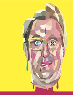 "Tim Biskup paints ""Tim & Eric"" for our Adult Swim issue"