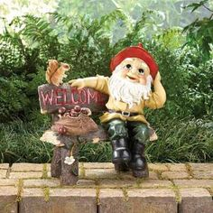 Garden Gnome Greeting Sign Free Shipping