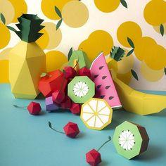 Toujours des fruits en papier