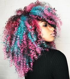Creative color @bethint  Read the article here - http://blackhairinformation.com/uncategorized/creative-color-bethint/