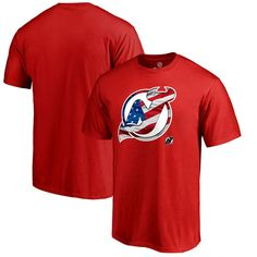 New Jersey Devils Fanatics Branded Big & Tall Banner Wave T-Shirt - Red