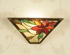 Applique tiffany lampada da parete tiffany con fiori stained