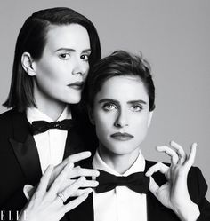 BFFS Sarah Paulson and Amanda Peet on wrinkles, plastic surgery, and waiting for the right part - Elle