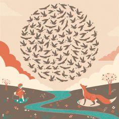 100 Starlings Rising by Andy Hau, via Behance