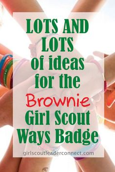 Brownie Girl Scout Ways Badge - Use the printed pictures and statements to put together a poster all about our founder Juliette Low.