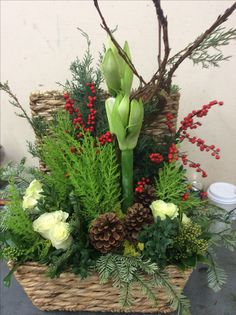 Rustic holiday mixed fresh and botanical. The Watering Can St.Catharines