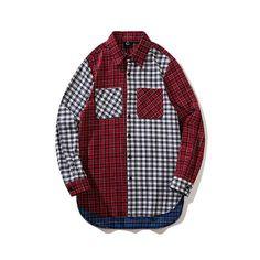 7ebac8fc2da Colorblock Plaid Flannel Shirt  unisex  plaid  flannel  shirt  hype  unisex