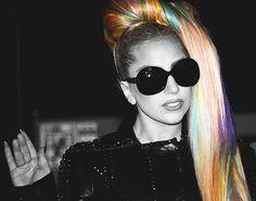 Lady Gaga rainbow