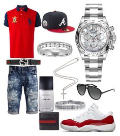 """Casual"" by pitbull8382 on Polyvore featuring PRPS, Polo Ralph Lauren, Gucci, Issey Miyake, Rolex, New Era and Marco Ta Moko"