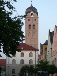 Turm der Stadtpfarrkirche St. Johann (Erding)