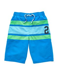 Striped Panelled Swim Shorts (5-14 Years) | M&S