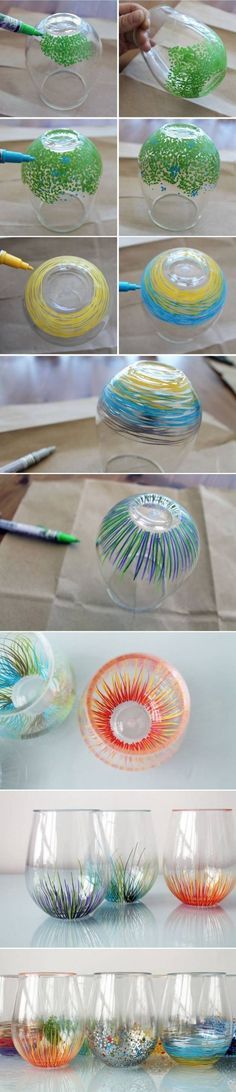 I want to use this to make my own set of custom wine glasses for some family events, like Sunday night dinner.