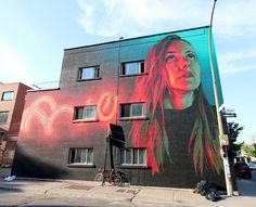 Examples of several murals from a mural festival in Montreal